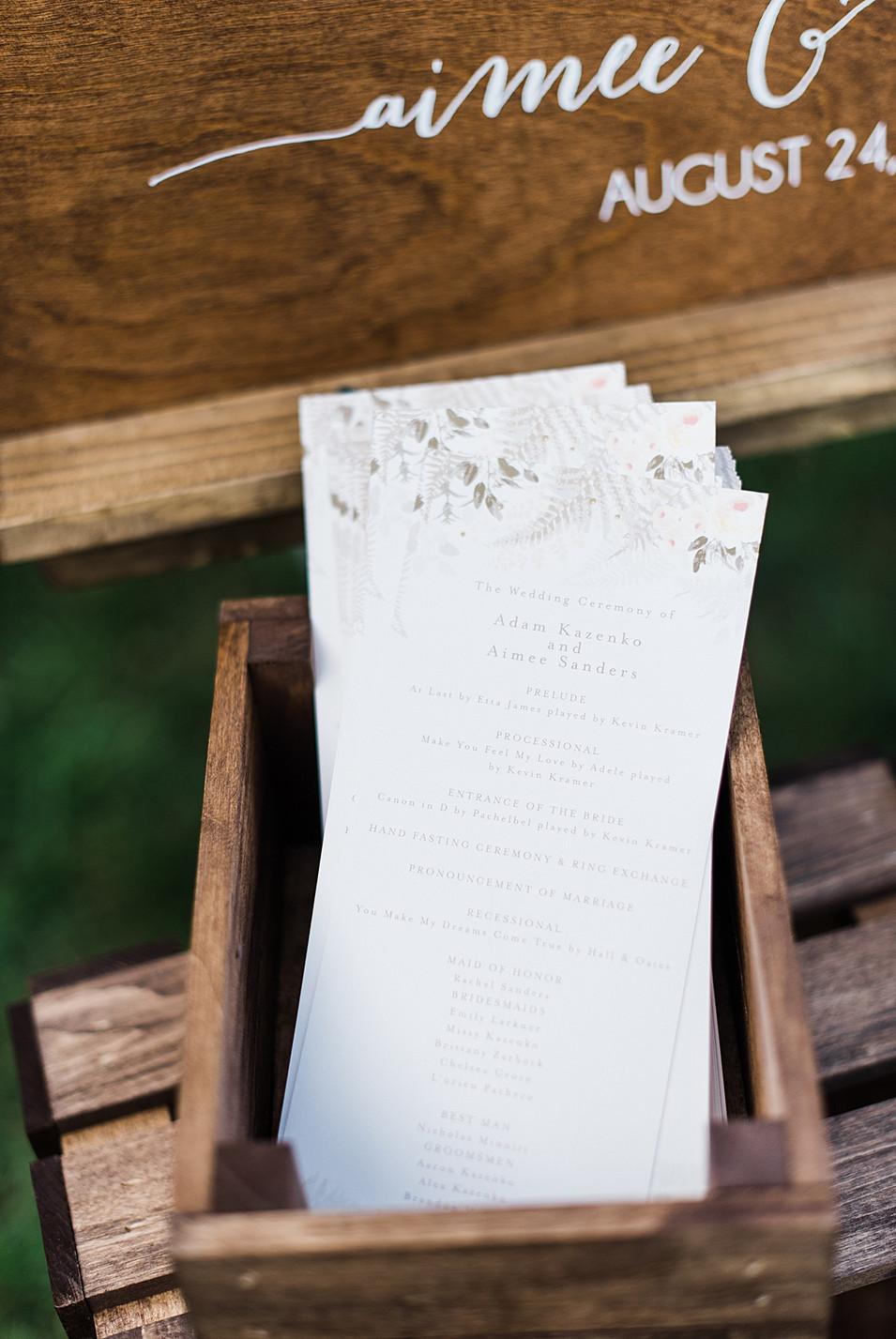 modern wedding stationary