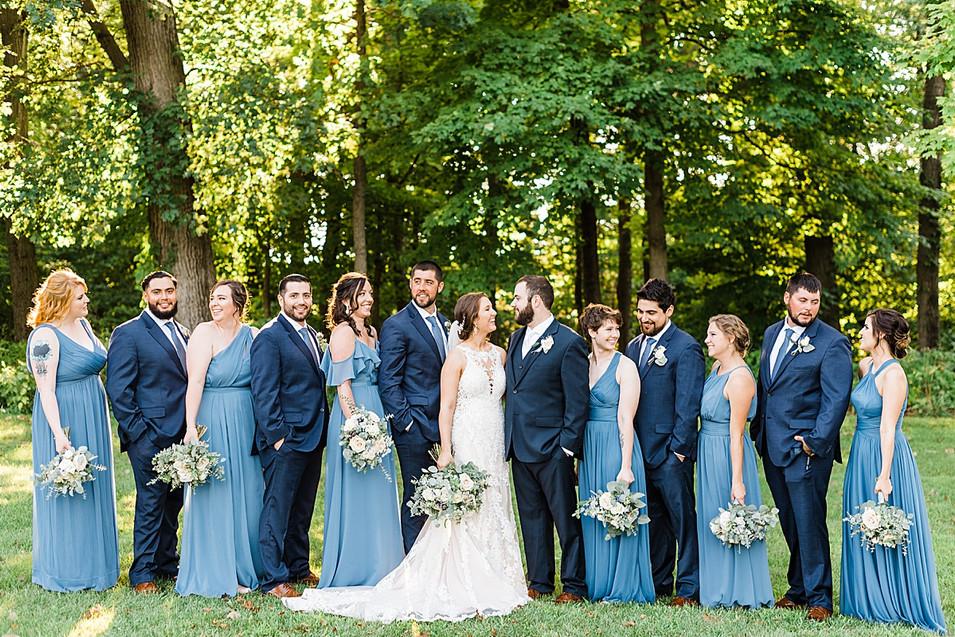 blue tone wedding colors