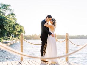 Relaxed Lakeside Micro Wedding | Ashley + Matt