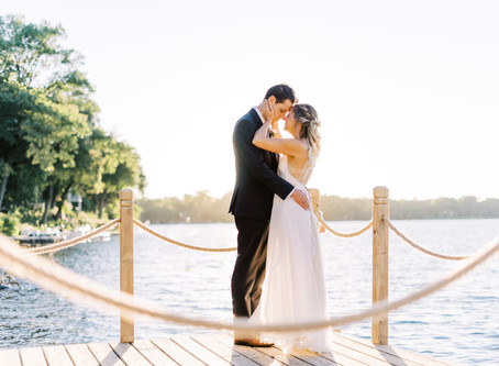 Relaxed Lakeside Micro Wedding | Ashley + Matt