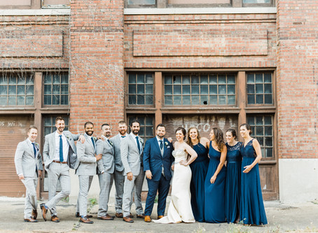 Modern Industrial Wedding at the Warehouse on State | Emelia + Aaron