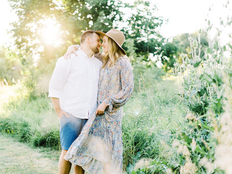 Playful Summer Engagement Session | Emma + Adam