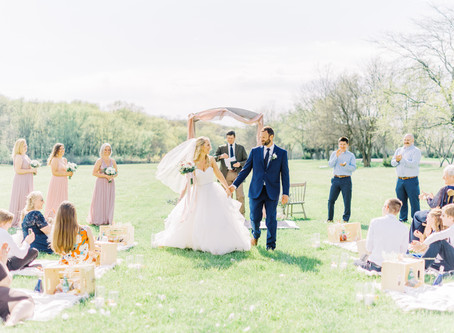 Romantic Picnic Style Wedding | Rachelle + Andy