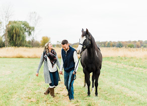 Animal Lovers Fall Engagement Session | Melissa + Nick