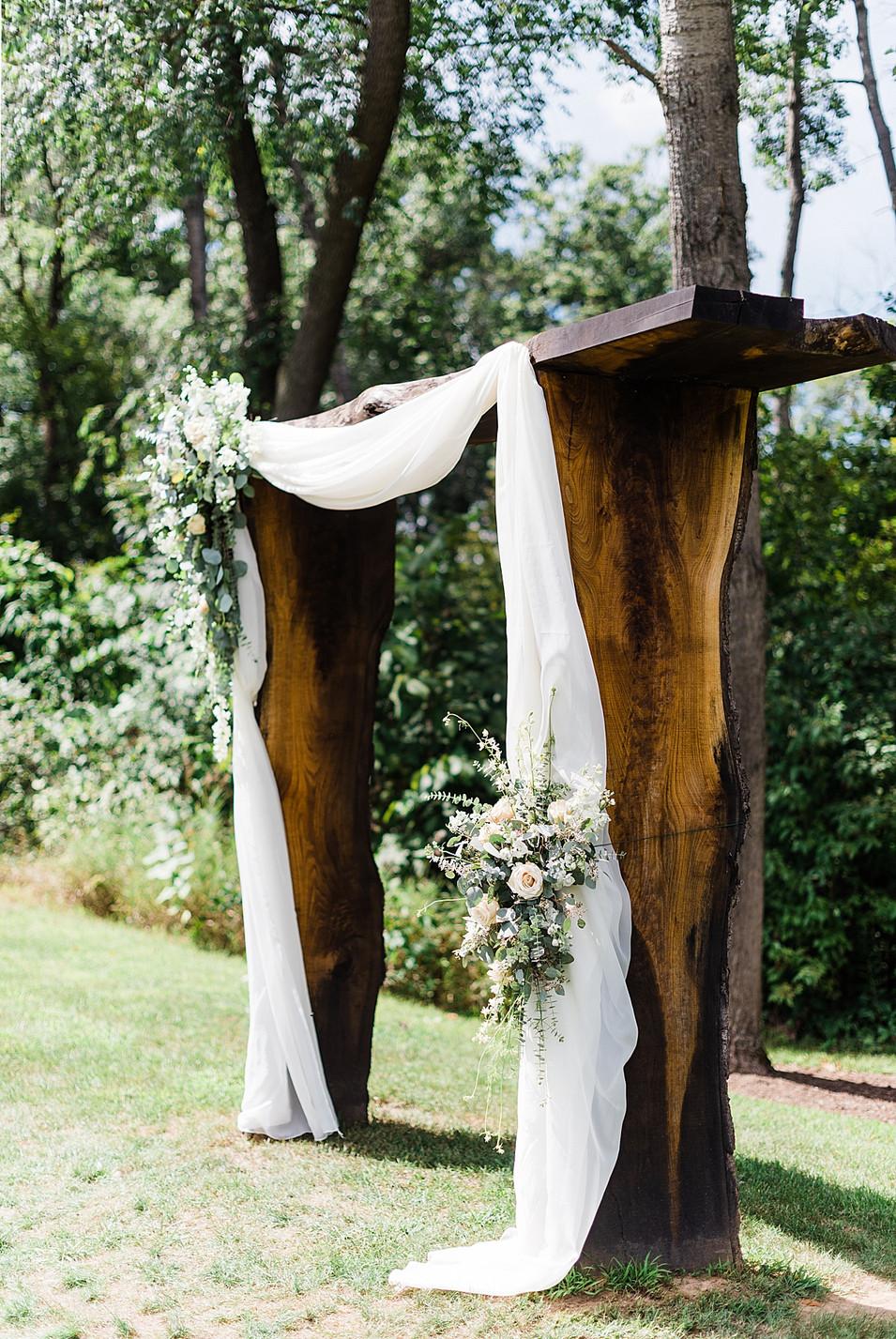 boho wedding arbor