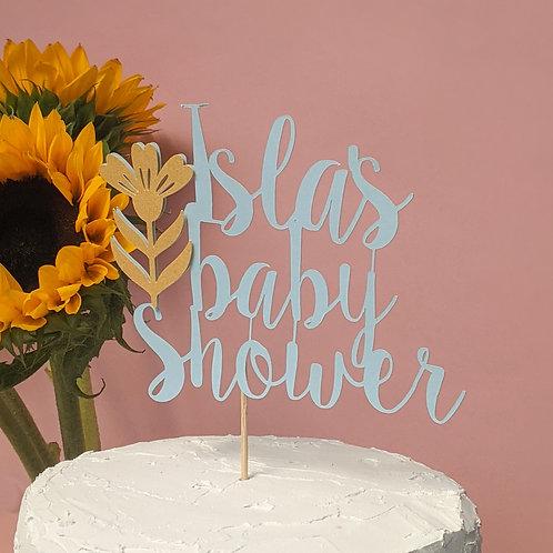 Baby Shower Custom Cake Topper
