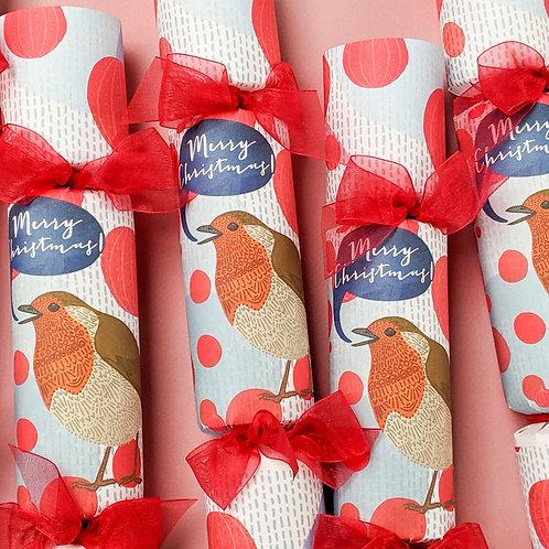 Winter Robin Christmas Crackers Box of Six