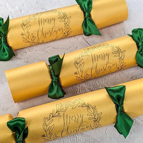 Botanical Wreath Christmas Crackers Box of Six