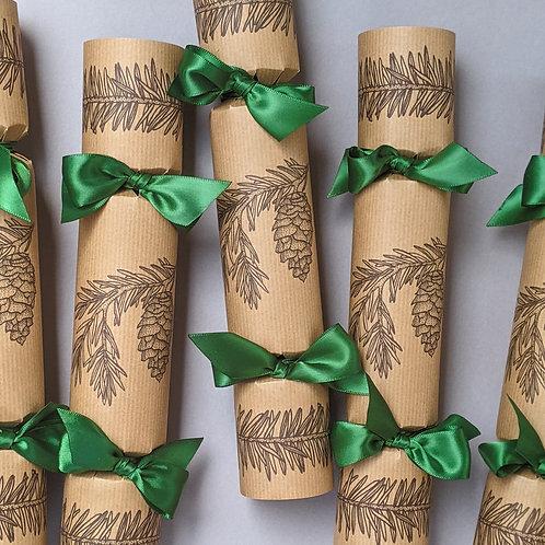 Winter Pine Christmas Crackers Box of Six