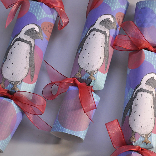 Merry Penguin Christmas Crackers Box of Six