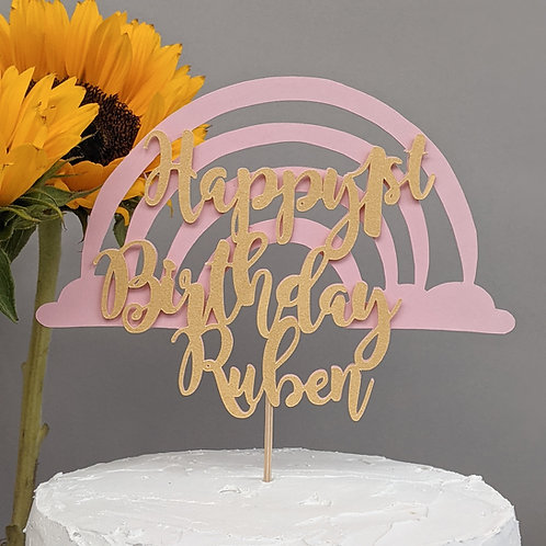 Magical Rainbow Cake Topper