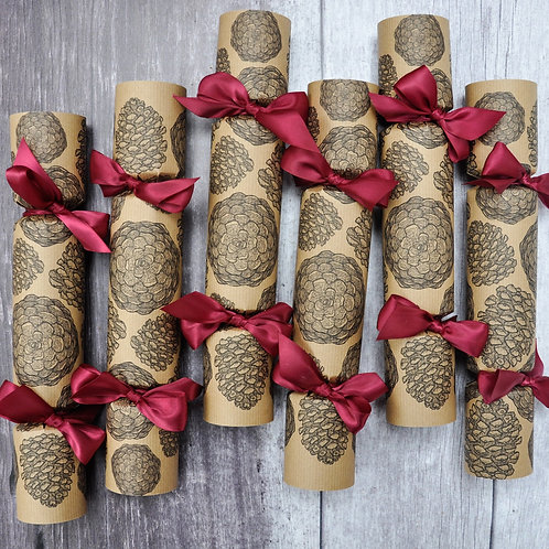 Country Pine Christmas Crackers Box of Six