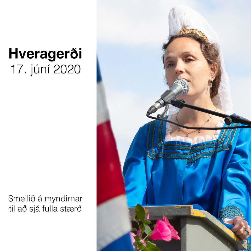 SMELLIÐ Á MYNDINA - Hveragerði  17. júní 2020