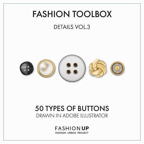 50 Types of Buttons - Fashion Toolbox Details Vol. 3