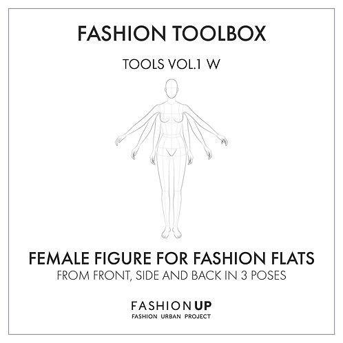 Female Body Templates - Fashion Toolbox Tools Vol.1 W