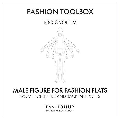 Male Body Templates - Fashion Toolbox Tools Vol.1 M