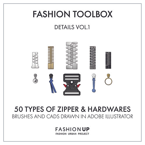 50 Types of Zippers & Hardwares - Fashion Toolbox Details Vol. 1