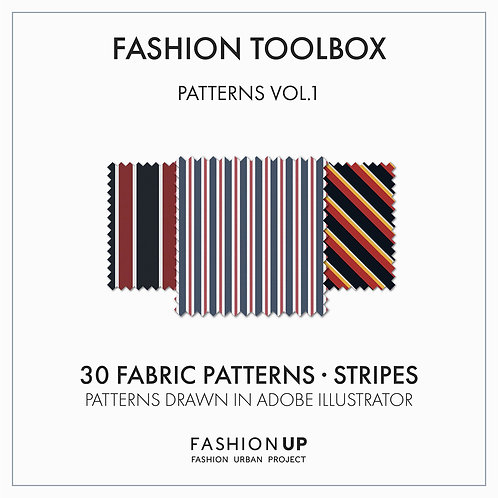 30 Types of Fabric Patterns - Stripes - Fashion Toolbox Patterns Vol.1