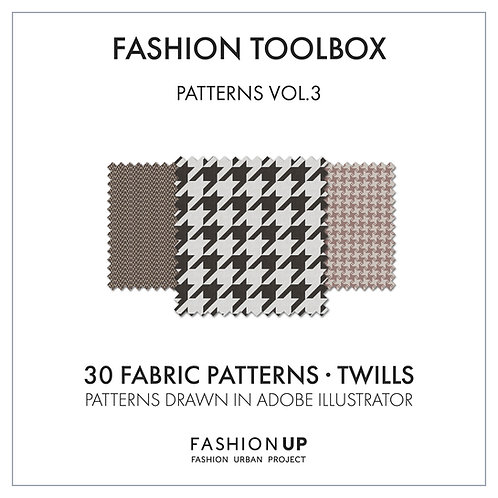 30 Types of Fabric Patterns - Twill - Fashion Toolbox Patterns Vol.3