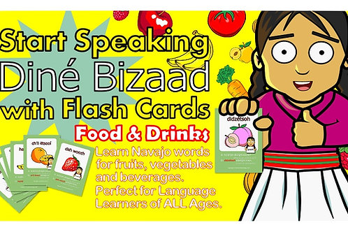 Navajo Language Flash Cards Food & Drinks