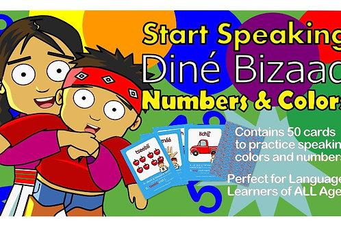 Navajo Language Flash Cards Numbers & Colors