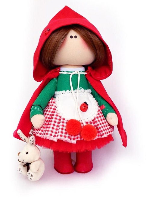 Little Red Riding Hood - Made to Order - Handmade Doll