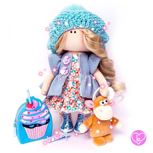 Beautiful Lilly - Ready to go - Limited Edition Handmade Doll