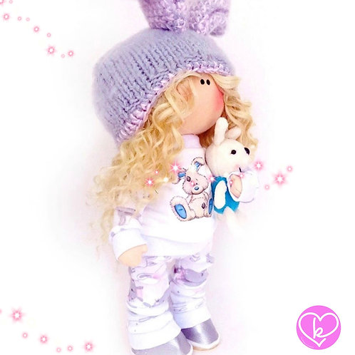 PJ's are a girls best friend - Made to Order - Handmade Doll