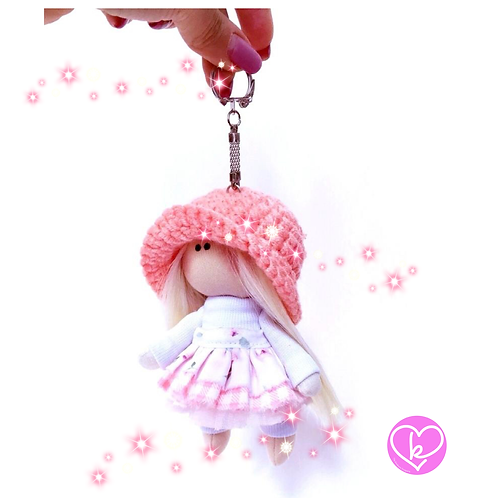 Pretty Lolly - Made to Order - Handmade Doll Keychain