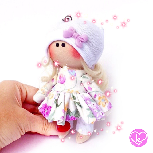 Pippa - Made to Order - Handmade Doll Keychain