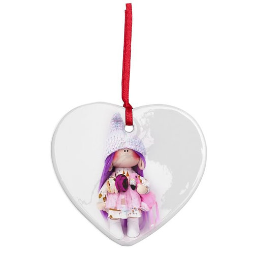 Gnomette - Heart Shaped - Christmas Decoration