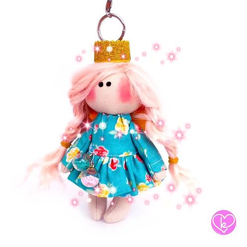 Little Princess - Ready to go - Handmade Doll Keychain