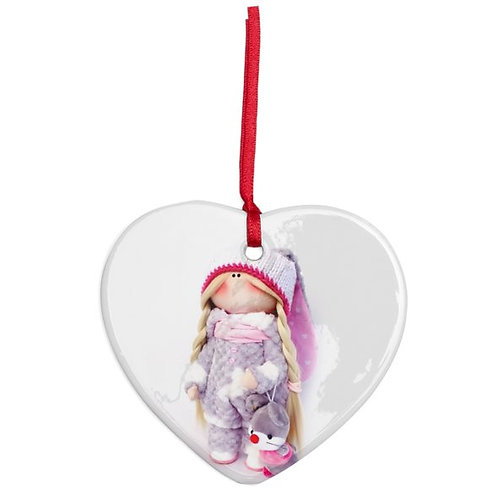 Beautiful Boo - Heart Shaped - Christmas Decoration