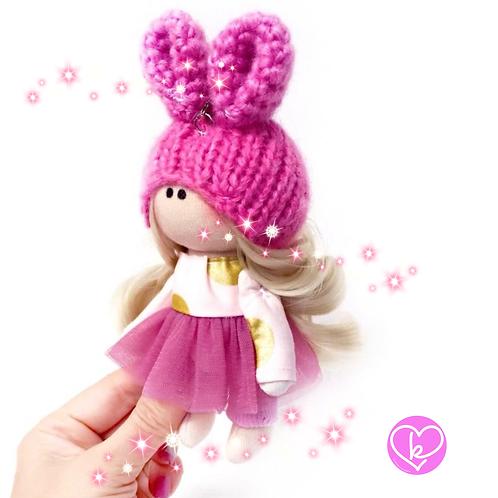 Springtime Bunny - Made to Order - Handmade Doll Keychain