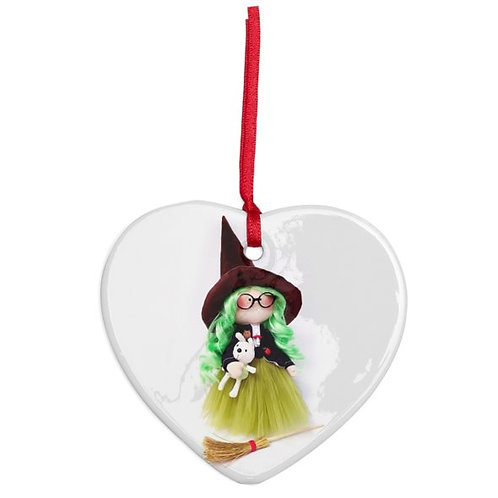 Good Witch - Heart Shaped - Christmas Decoration