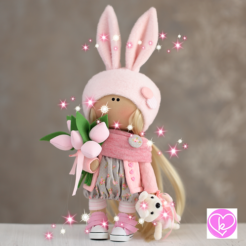 Pretty Tahlia - Ready to Go - Handmade Doll - 2020 Collection
