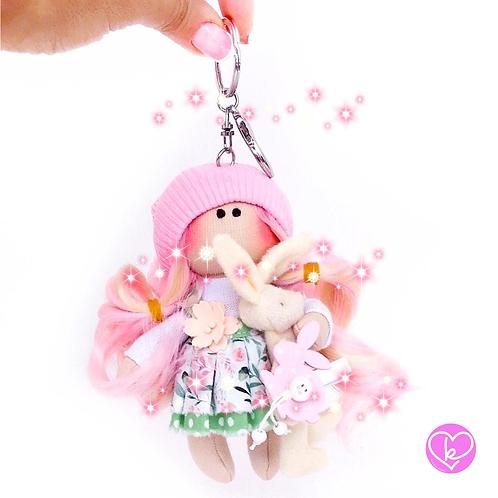 Little Petal - Ready to go - Handmade Doll Keychain