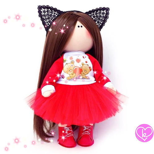 Little Kitty - Made to Order - Handmade Doll