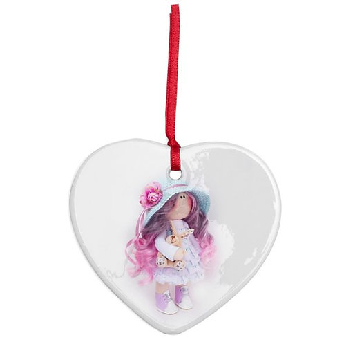 Holly - Heart Shaped - Christmas Decoration