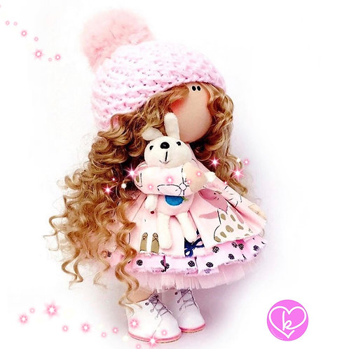 Pretty Hariette - Made to Order - Handmade Doll