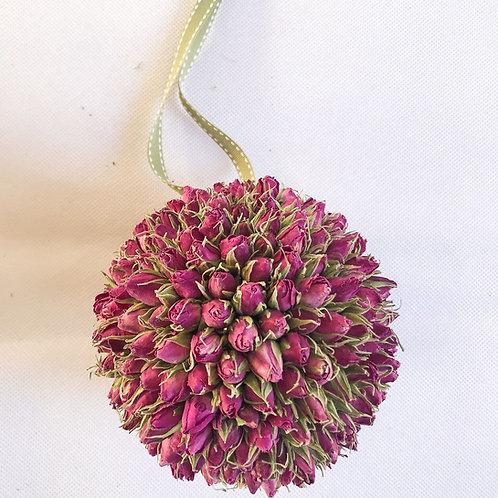 Stunning Dried Rosebud Pomander - Handmade