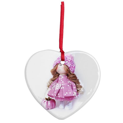 Flower Fairy - Heart Shaped - Christmas Decoration