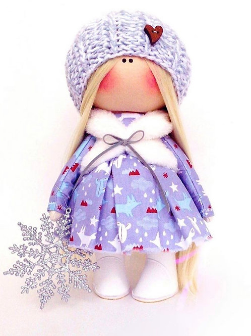 Alice our pretty Winter Doll - Made to Order - Handmade Doll