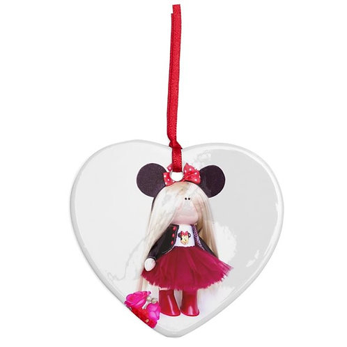 Beautiful Minnie - Heart Shaped - Christmas Decoration