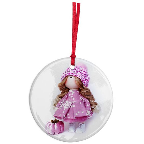 Flower Fairy - Round Shaped - Christmas Decoration