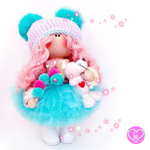 Little Miss Winter - Made to Order - Handmade Doll