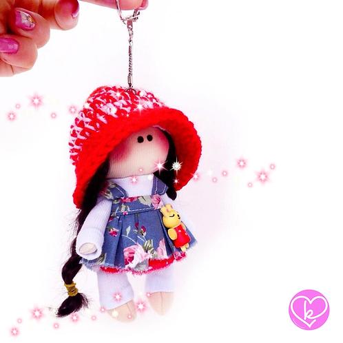 Little Miss Dreamer - Made to Order - Handmade Doll Keychain