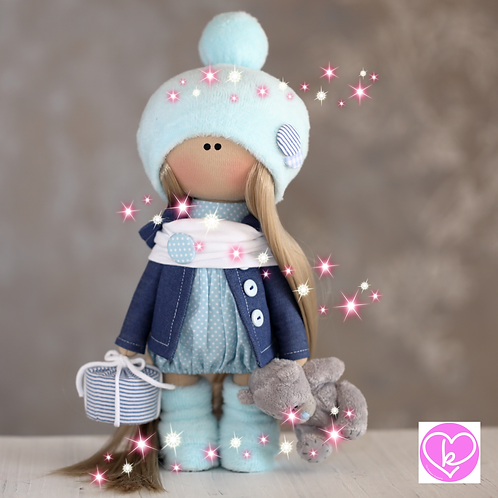 Beautiful Poppie - Ready to Go - Handmade Doll - 2020 Collection