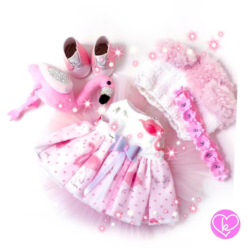 Beautiful Flamingo - Made to Order - Extra Outfit Set