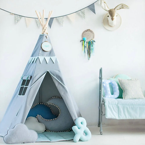 Smart Grey Mint Teepee Set